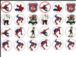 24 x Ultimate Spiderman  Wafer Paper Cup Cake Toppers